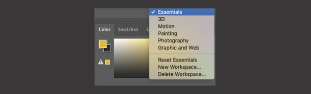 How to Choose a Workspace in Photoshop