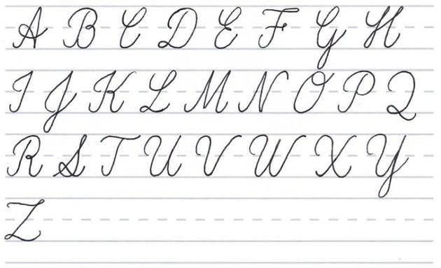 cursive calligraphy - capital alphabet