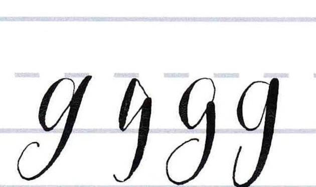 Make your own font- lowercase g style variations