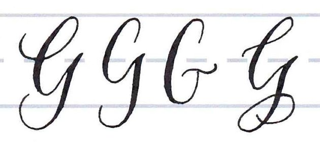 Calligraphy Writing Tutorial make your own font-uppercase G