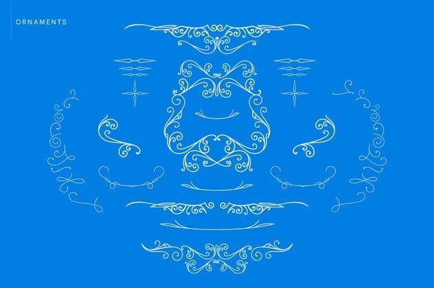 Blue Angel Ornaments
