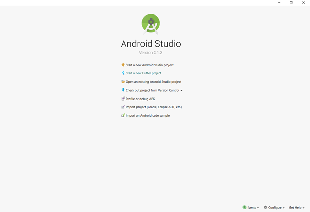 Open Android Studio and create a new Flutter project.