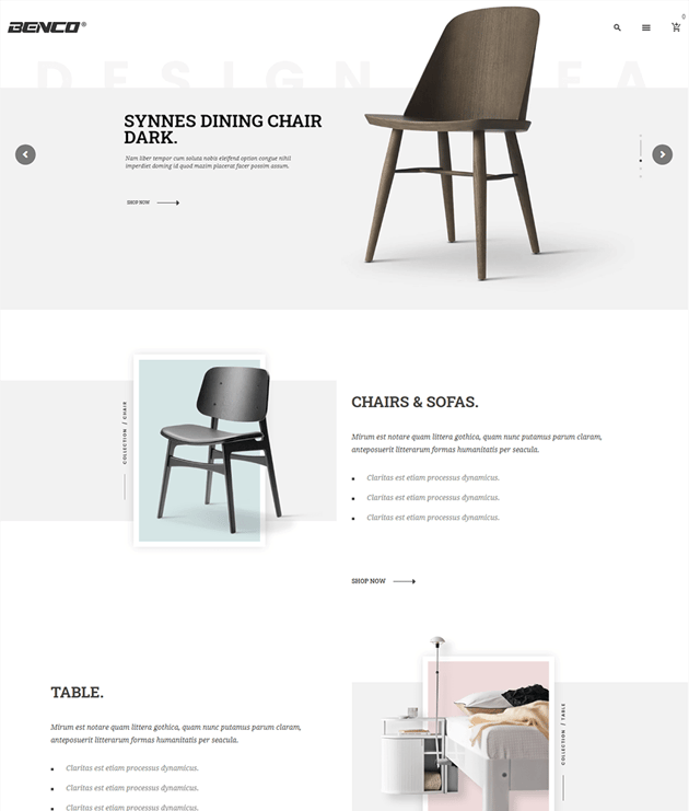 Benco - an easy-to-use wordpress theme with different homepages