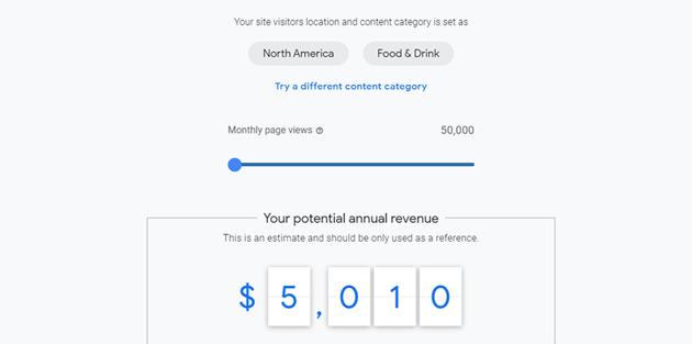 google adsense revenue calculator