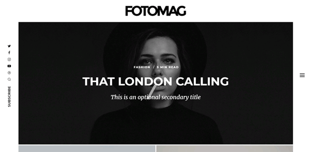 fotomag is a minimalist magazine theme for WordPress websites