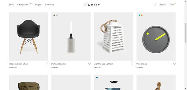 Savoy - a minimalist wordpress theme for online stores