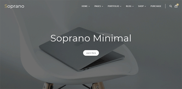 Soprano is multi-use and minimalist WordPress theme