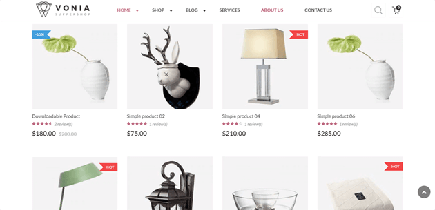 VG Vonia is a beautiful theme for minimalist online stores