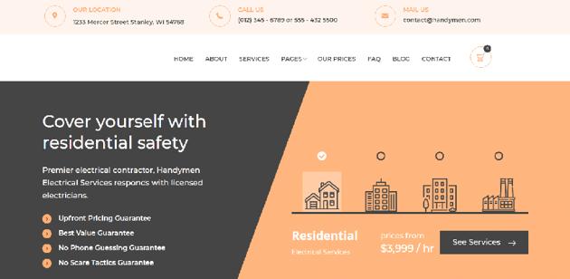 Heimwerker - simple WordPress theme for electricians
