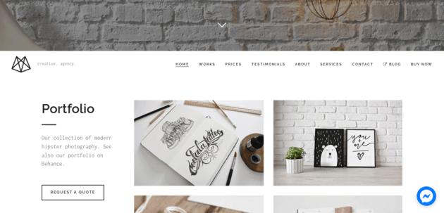 Bushwick - lightweight portfolio theme for wordpress