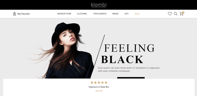 Klambi is an elegant theme for those who need a fast WooCommerce theme