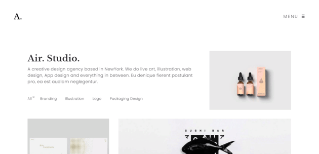 Portfolio Air - a minimalist and lightweight theme for WordPress