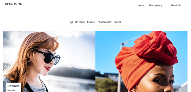 Aperture Portfolio - simple WordPress theme for your portfolio website