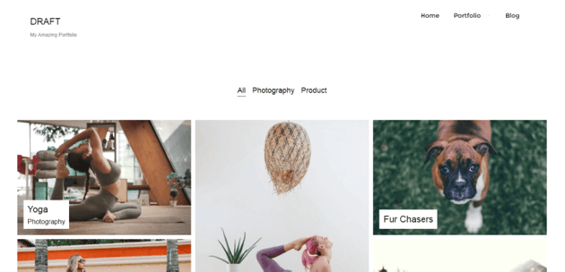 Draft Portfolio is simple and fast WordPress theme