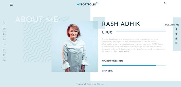 Sample portfolio website