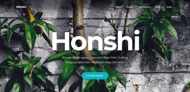 Honshi - modern portfolio theme for WordPress