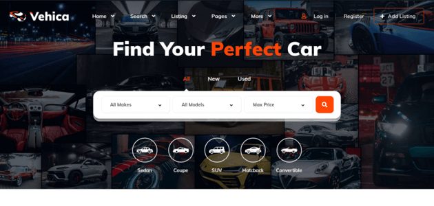Vehica - Elementor theme for listing and directory websites
