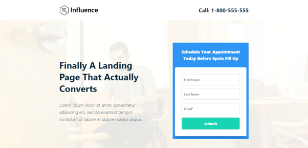 Influence - A highly customizable template for HubSpot websites