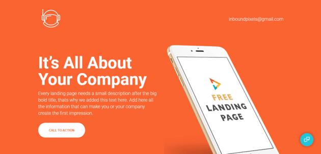 Landing img - a modern template for HubSpot