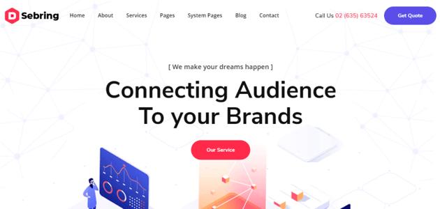 Sebring - Minimalist HubSpot theme for companies