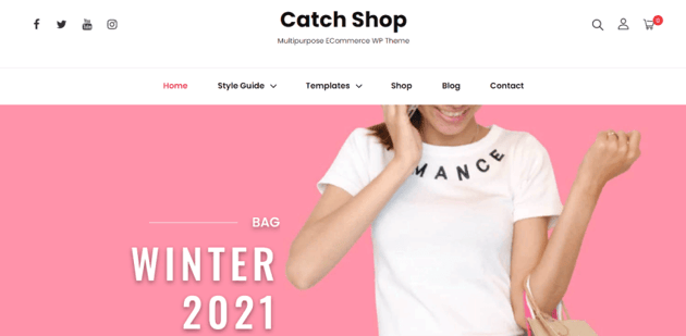 Catch Shop - minimalist free theme for your online store
