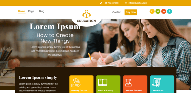 Education Insight - Free LMS theme for WordPress
