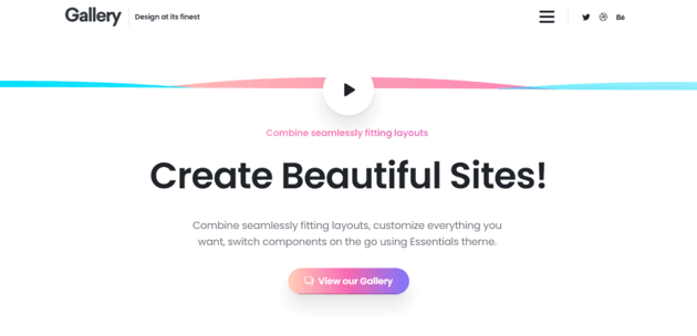 Essentials - a multi-use and new-published WordPress theme