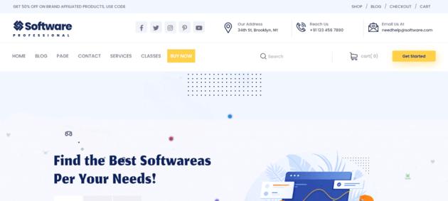 Software Agency - an elegant and free WordPress theme