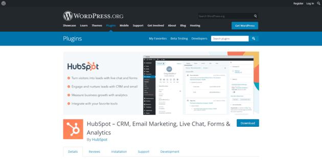 The official HubSpot plugin for WordPress