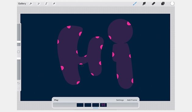 Reveal letters furthermore in animation