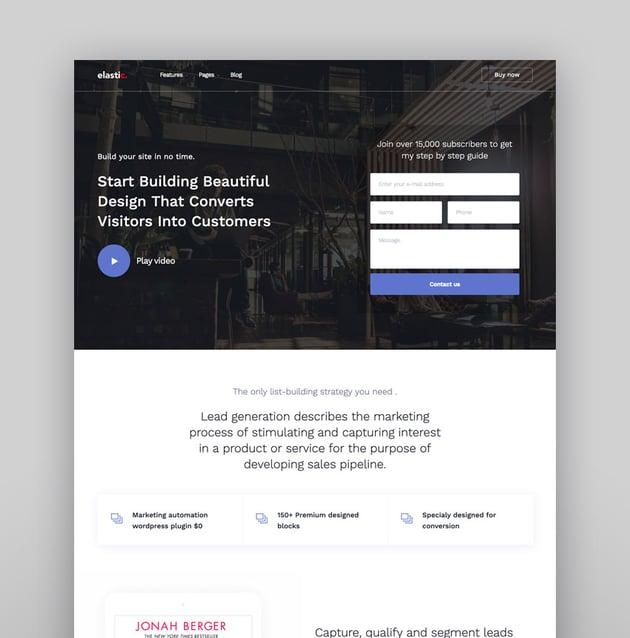 Elastik - SAAS  SEO  Startup  App WordPress Theme
