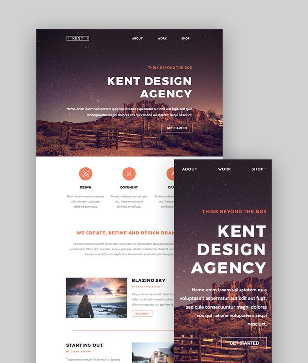 Kent - Responsive Email StampReady Builder