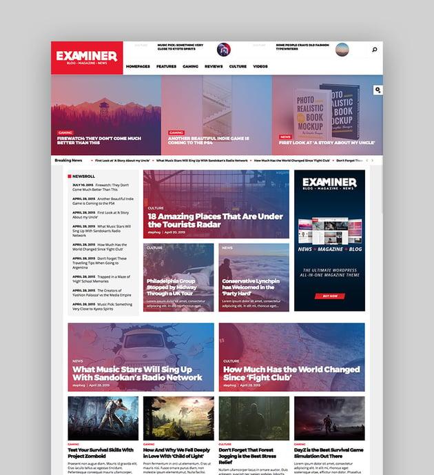 Examiner - Robust WP Magazine Theme