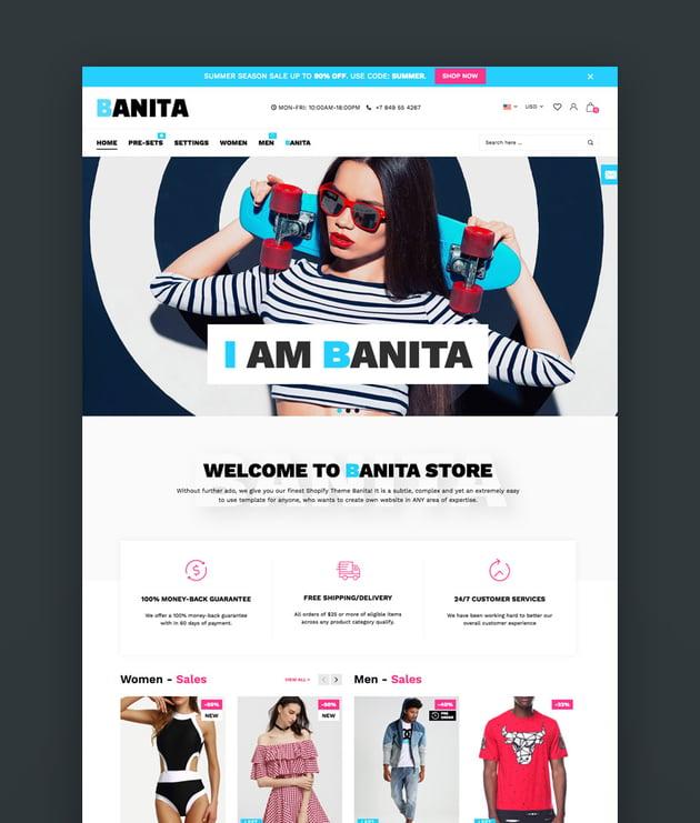 Banita - Shopify Best Themes