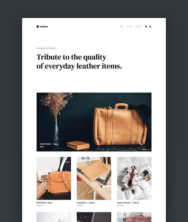 Wokiee - Multipurpose eCommerce Shopify Theme Templates wallet skin
