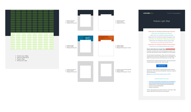 email designs in sketch