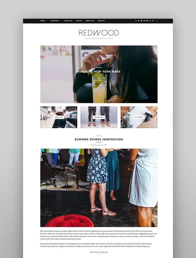 Redwood - Responsive WordPress Blog Theme
