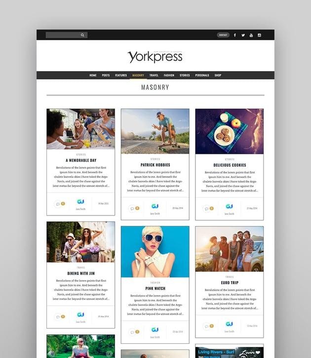 YorkPress - Creative WordPress Blog Template