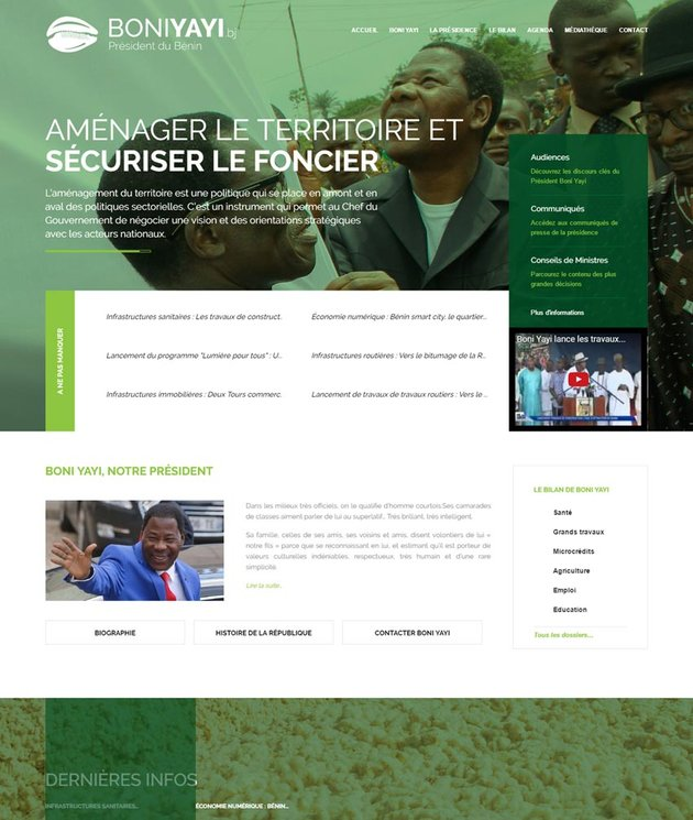 HE Boni Yayi Benin official website boniyayibj