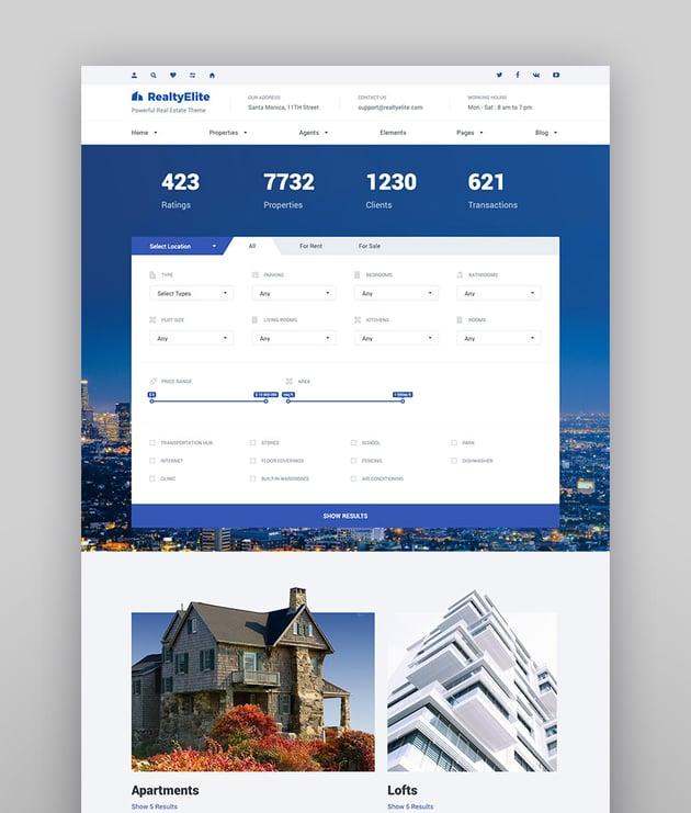 RealtyElite - Real Estate Best WordPress Directory Theme