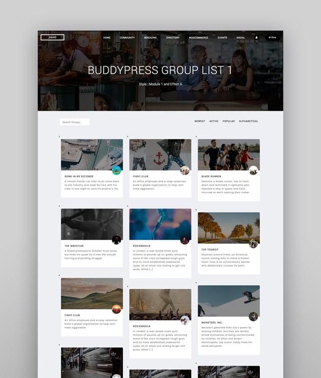 Lynk - WordPress-Theme für soziale Netzwerke und Community