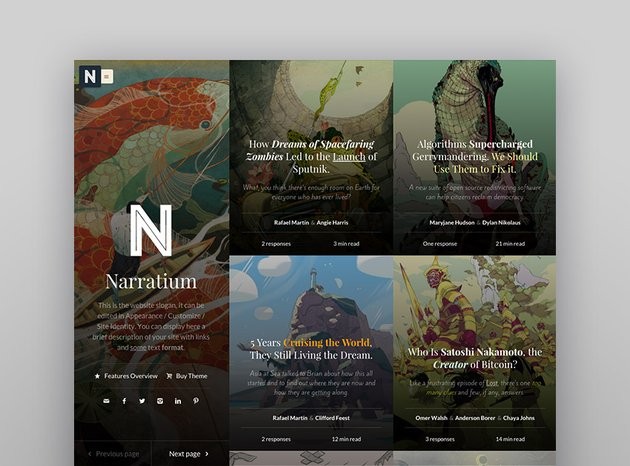 Narratium - Simplicity for authors Home page