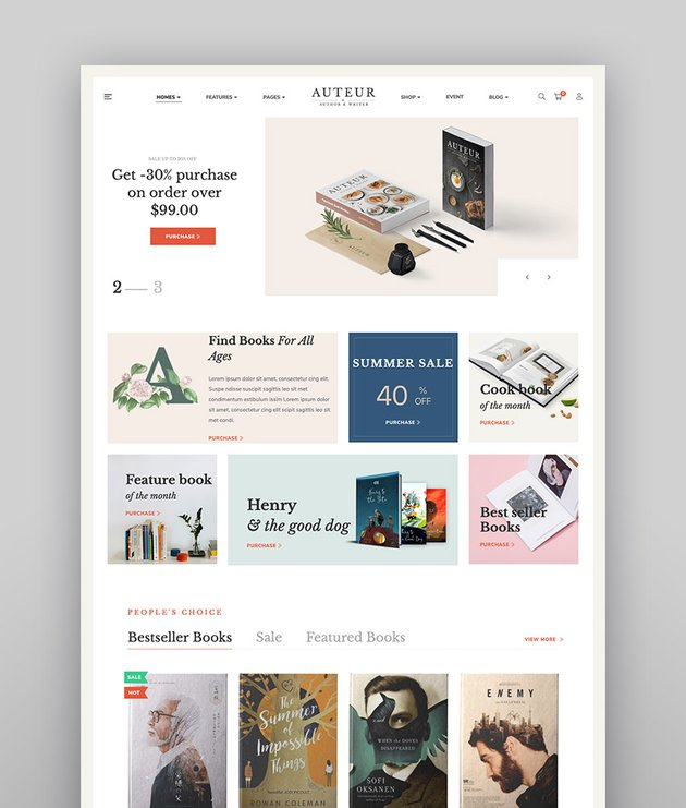 Auteur  WordPress Theme for Authors Reviewers and Publishers