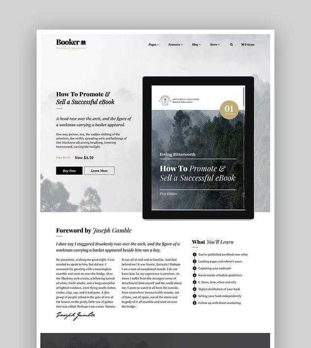 Booker - WordPress For Selling eBooks