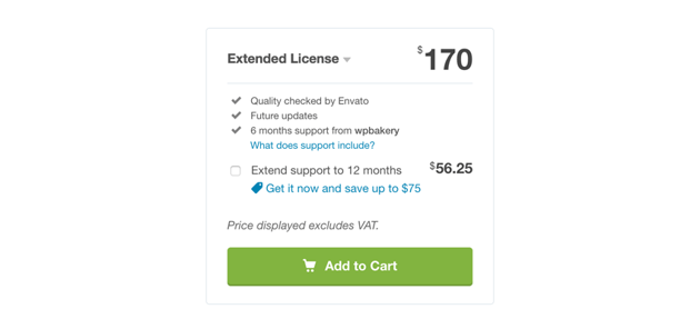 Visual Composers extended license from CodeCanyon