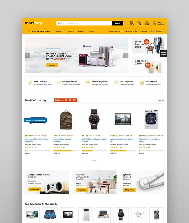 Martfury - Tema de WooCommerce para marketplace con WordPress