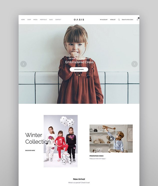 Oasis - Moderno tema de WooCommerce de marketplace para WordPress