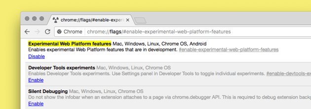 Enabling the apply feature in Chrome