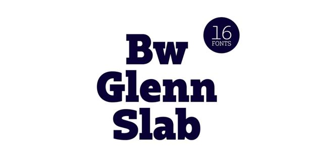 Bw Glenn Slab font family by bwtype
