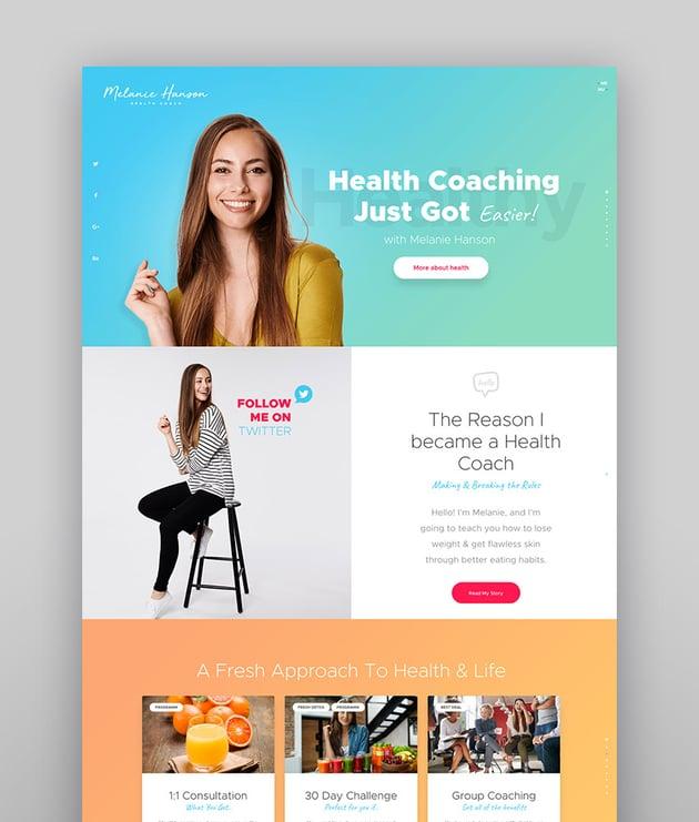 Melanie Hanson - Health Coach Blog  Lifestyle Magazine WordPress Theme